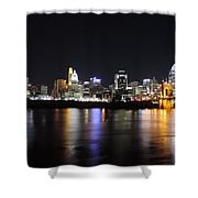 Cincinnati Skyline At Night From Covington Kentucky Shower Curtain