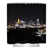 Cincinnati Skyline At Night From Devou Park Shower Curtain