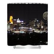 Cincinnati With The Moon 2 Shower Curtain