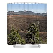 Cinder Cone Crater Shower Curtain