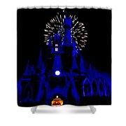 Cinderella Castle Fireworks Shower Curtain