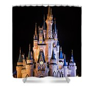 Cinderella's Castle In Magic Kingdom Shower Curtain