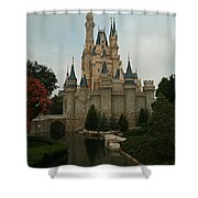 Cinderella's Castle Reflected Shower Curtain