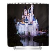 Cinderella's Castle Reflection Shower Curtain