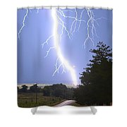 Cindy's Tower Lightning Shower Curtain