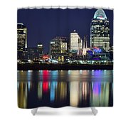 Cinicinnati At Dusk Shower Curtain