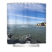 Cinque Terre And The Sea Shower Curtain