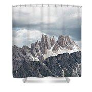 Cinque Torri Area In The Dolomites Shower Curtain