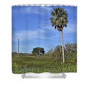 Circle B Morning Shower Curtain