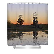 Circle B Sunset Shower Curtain