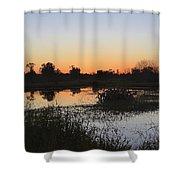 Circle B Winter Sunset Shower Curtain