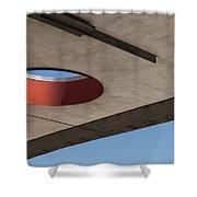 Circle Down  Shower Curtain