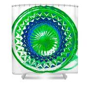 Circle Green Shower Curtain