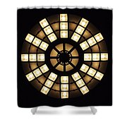 Circle In A Square Shower Curtain by Rona Black