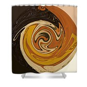 Circle Of Browns Shower Curtain