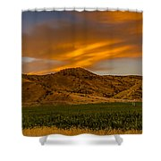 Circle Of Corn At Sunrise Shower Curtain