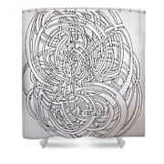 Circle On Circle Shower Curtain