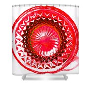 Circle Red Shower Curtain