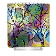Circle Trees Shower Curtain