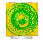 Circle Yellow Shower Curtain