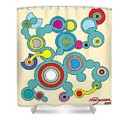 Circles 3 Shower Curtain