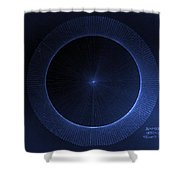 Circles Don't Exist Pi 180 Shower Curtain