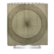 Circles Don't Exist Two Degree Frequency Shower Curtain
