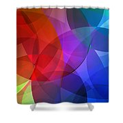 Circles In Colorful Abstract Shower Curtain