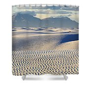 Circles In The Sand Shower Curtain