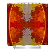 Circles Making Love Abstract Circular Artwork By Omaste Witkowsk Shower Curtain