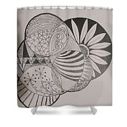 Circles Of Zen Tangle Shower Curtain
