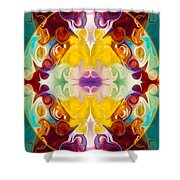 Circling The Unknown Abstract Healing Artwork By Omaste Witkowsk Shower Curtain