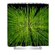 Circuit Zoom Shower Curtain by Jerry McElroy