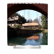 Circular Arc View Shower Curtain