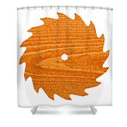 Circular Saw Blade With Pine Wood Texture Shower Curtain