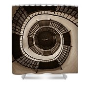 Circular Staircase In The Granitz Hunting Lodge Shower Curtain