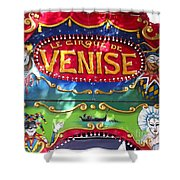 Circus Centerpiece Shower Curtain