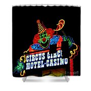 Circus Circus Sign Vegas Shower Curtain