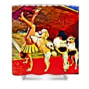 Circus Dog Act Shower Curtain