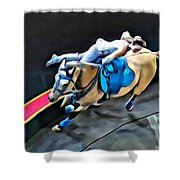 Circus Horse Trickster Shower Curtain