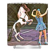 Circus Pony Shower Curtain