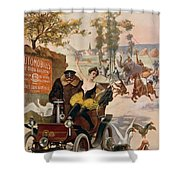 Circus Star Kidnapped Wilhio S Poster For De Dion Bouton Cars Shower Curtain