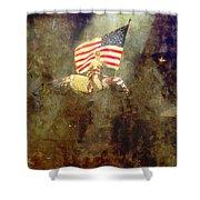 Circus Usa Flag Shower Curtain