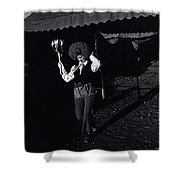 Circus World Homage  Clown J.a. Strong Traveling Circus Along The Us/mexico Border Bisbee Az Naco  Shower Curtain