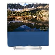 Cirque Of The Towers In Lonesome Lake 2 Shower Curtain