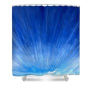 Cirrus Clouds In Perspective Shower Curtain