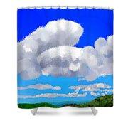 Cumulus Impressionism Shower Curtain
