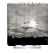 Cirrus Sunset Shower Curtain