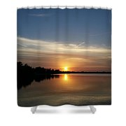 Cirrus Sunset Shower Curtain