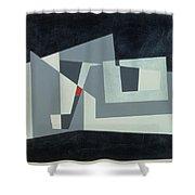 Citadel, Version 3, 1982 Oil On Hardboard Shower Curtain
